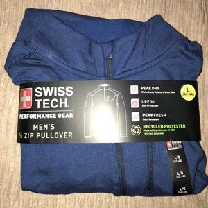 NWT Men's 1/2 zip Navy Pullover